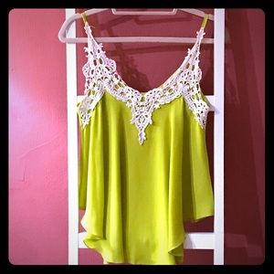 Tea n Rose Tank Top with Lace Detail